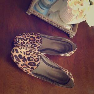 Leopard print flats!